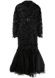 Comme des Garçons rosette-embellished chiffon and tulle down