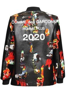 Comme des Garçons Rubber Print Cotton & Nylon Jacket