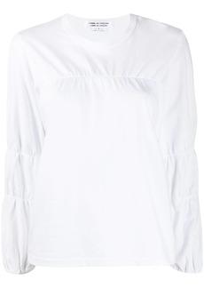 Comme des Garçons ruched-detail long-sleeved top