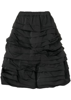 Comme des Garçons ruched full skirt
