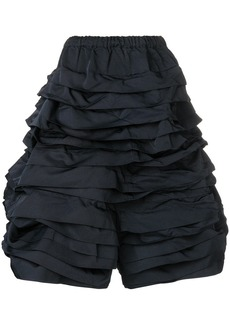 Comme des Garçons ruched tiered trousers