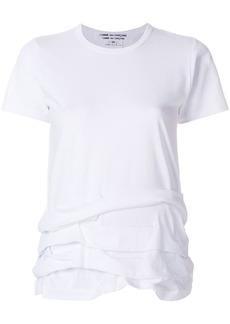 Comme des Garçons ruffle hemmed T-shirt