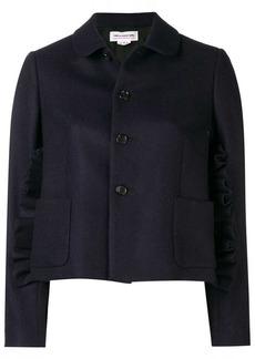 Comme des Garçons ruffle trim short jacket