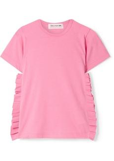 Comme des Garçons Ruffled Cotton-jersey T-shirt