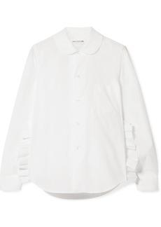 Comme des Garçons Ruffled Cotton-poplin Shirt