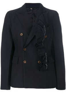 Comme des Garçons ruffled double-breasted jacket