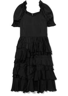 Comme des Garçons Ruffled Habotai Midi Dress