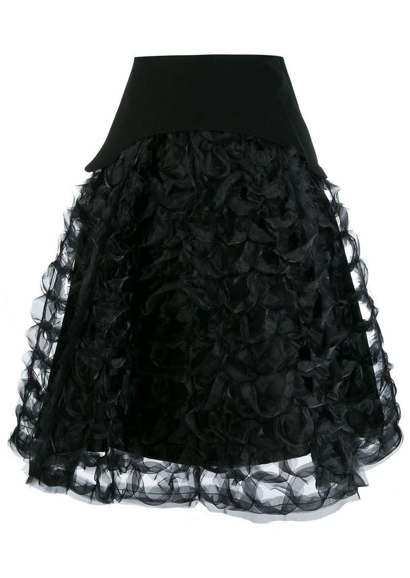 Comme des Garçons ruffled sculptural A-line skirt