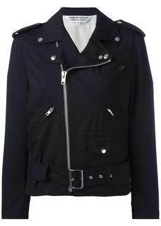 Comme des Garçons ruffled sleeves biker jacket