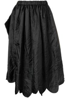 Comme des Garçons scalloped hem asymmetric skirt