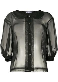 Comme des Garçons sheer 3/4 sleeves shirt0