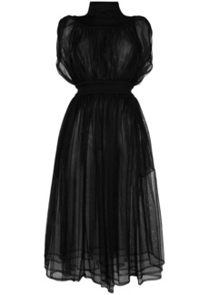 Comme des Garçons sheer gathered long dress