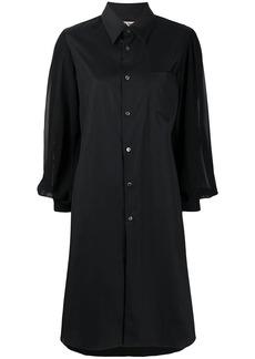 Comme des Garçons sheer sleeve loose fit shirt dress