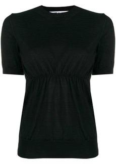 Comme des Garçons short sleeve knitted top