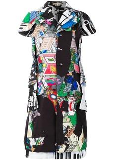Comme des Garçons shortsleeved printed coat