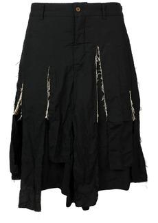 Comme des Garçons shredded shorts