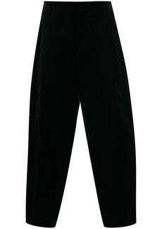 Comme des Garçons silk panel cropped trousers