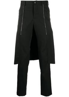 Comme des Garçons slim fit layered style trousers