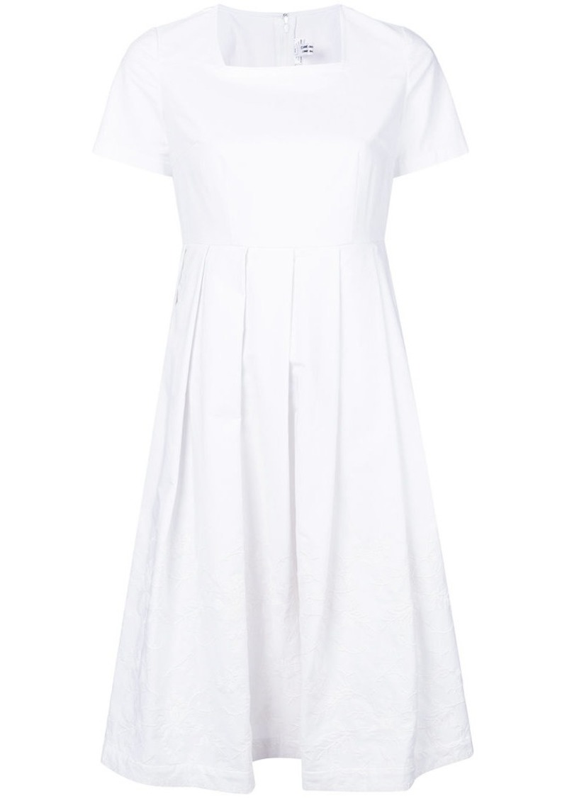 Comme des Garçons square neck pleated skirt dress