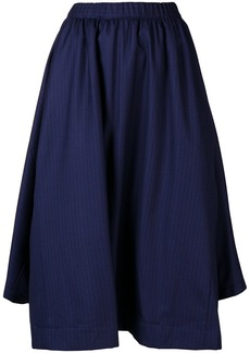 Comme des Garçons striped asymmetric skirt
