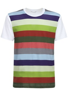 Comme des Garçons Striped Cotton Jersey T-shirt