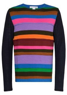 Comme des Garçons striped panel knit jumper