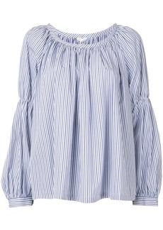 Comme des Garçons striped puff blouse