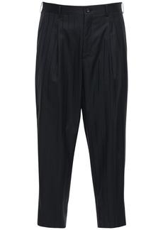 Comme des Garçons Striped Wool & Silk Pants