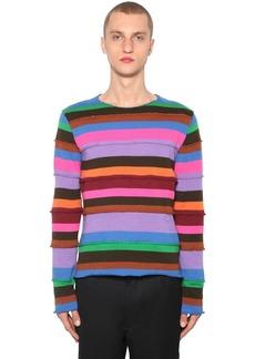 Comme des Garçons Striped Wool Blend Knit Sweater
