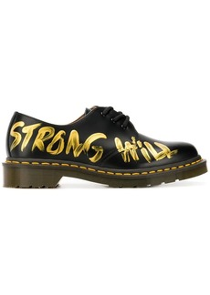 Comme des Garçons Strong Will painted oxfords