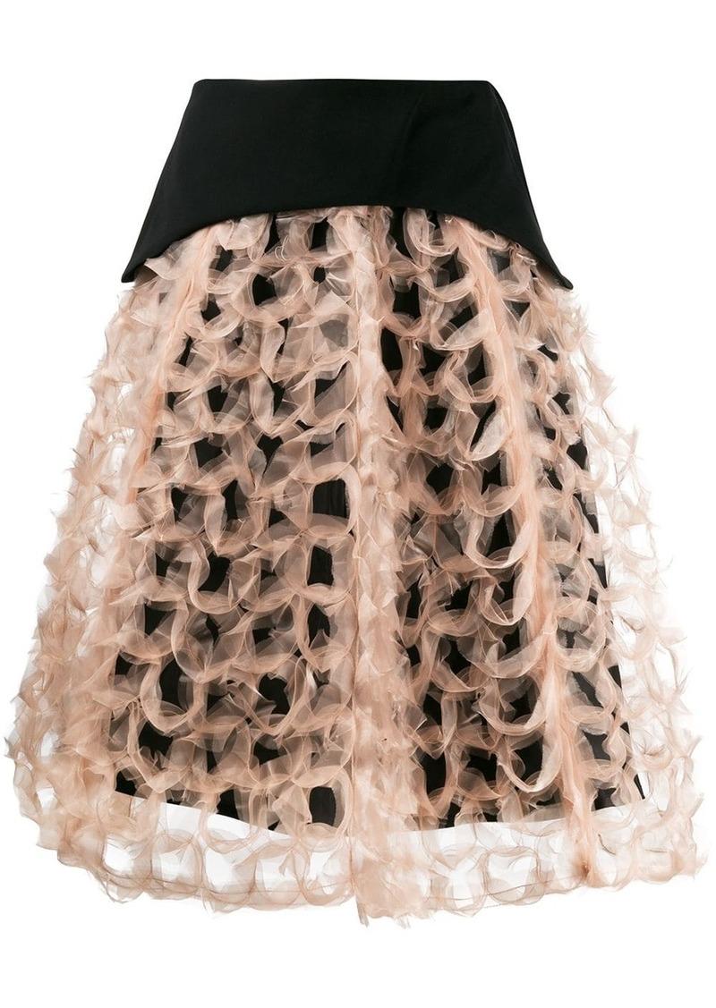 Comme des Garçons structured A-line skirt