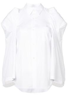 Comme des Garçons structured shoulders cape shirt