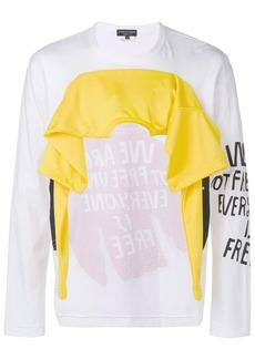 Comme des Garçons sweatshirt + jersey T-shirt