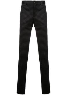 Comme des Garçons textured check print trousers