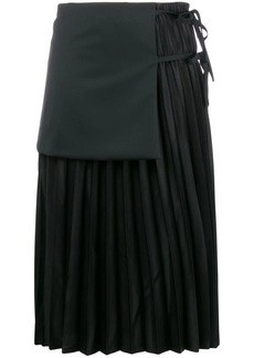 Comme des Garçons tied-layer pleated skirt