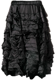 Comme des Garçons tiered ruched shorts