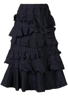 Comme des Garçons tiered ruffle skirt