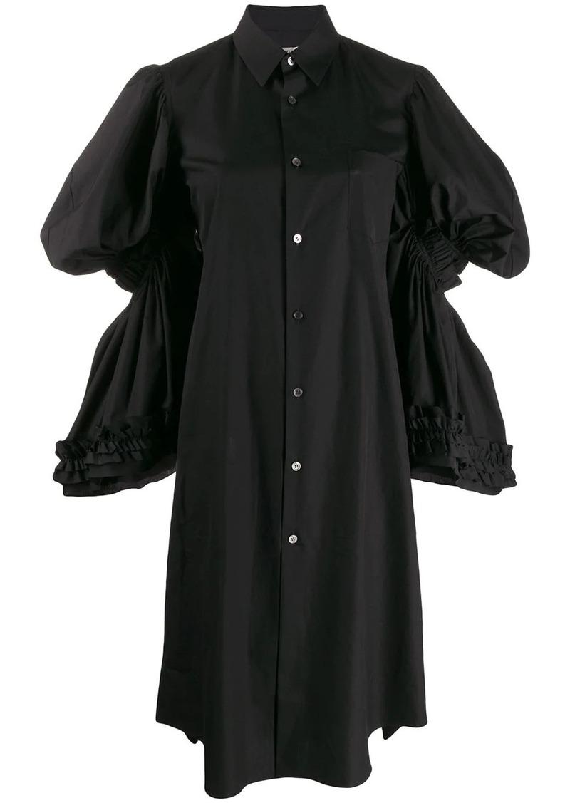 Comme des Garçons tiered-sleeve shirt dress