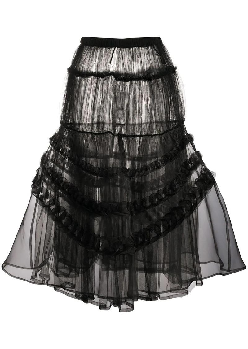 Comme des Garçons tiered tulle skirt