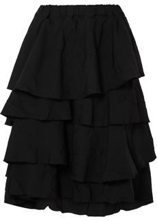 Comme des Garçons Tiered Twill Midi Skirt