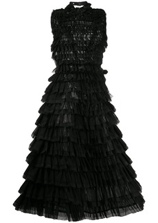 Comme des Garçons tulle tiered flared dress