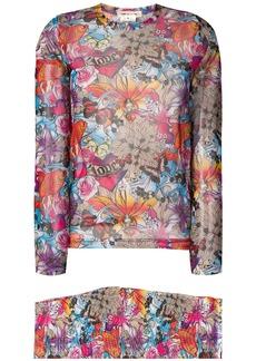 Comme des Garçons two piece floral set