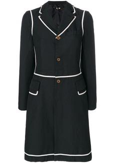 Comme des Garçons two-tone button coat