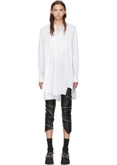 Comme des Garçons White Asymmetric Shirt Dress