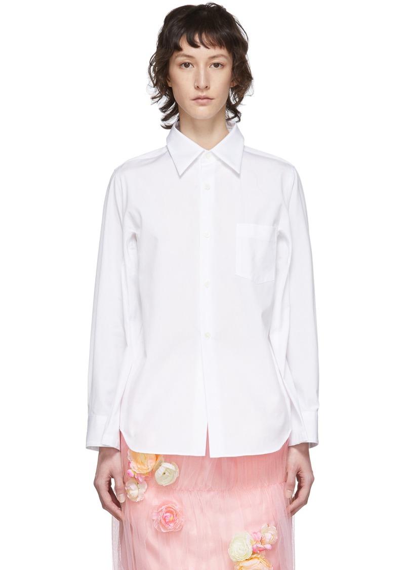Comme des Garçons White Broad Four-Sleeve Shirt