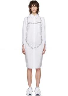 Comme des Garçons White Chains Shirt Dress