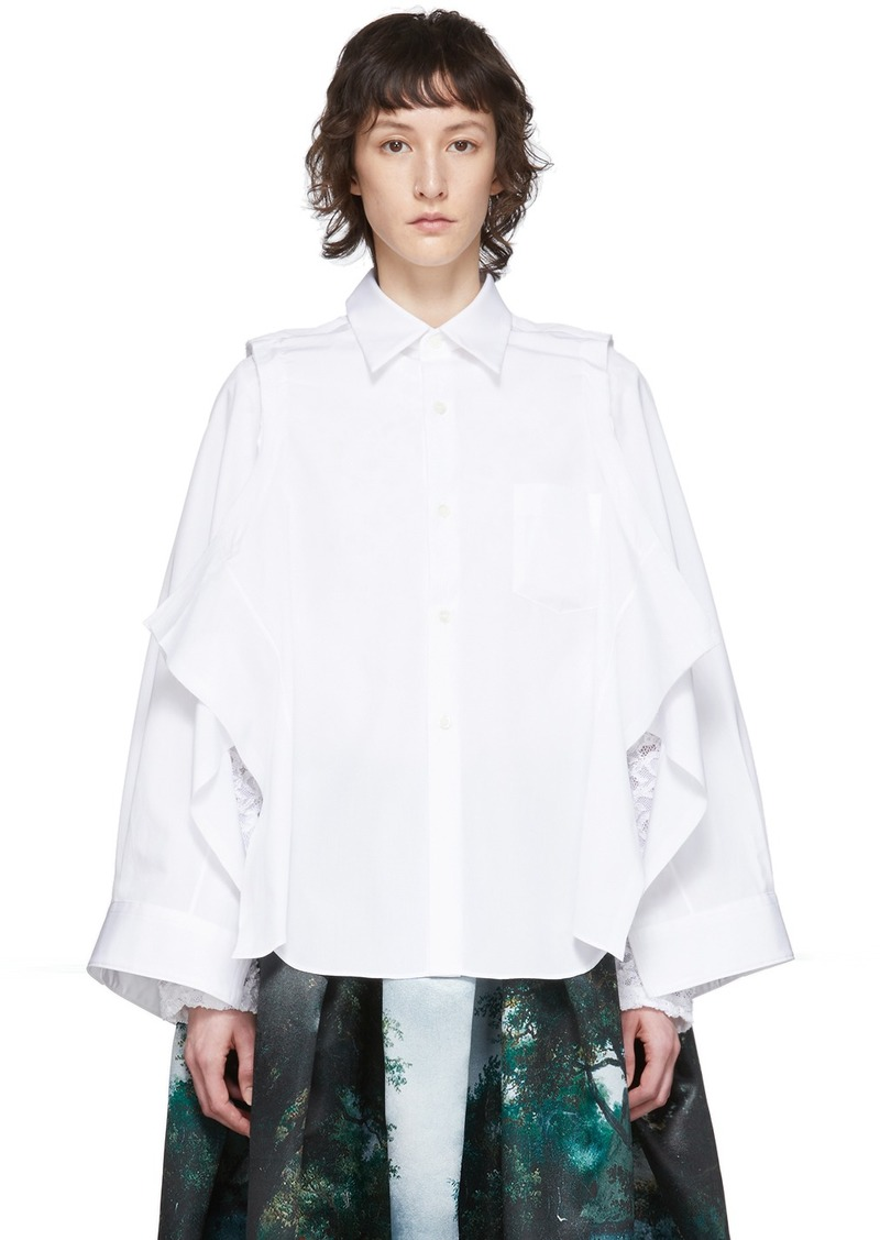 Comme des Garçons White Deconstructed Shirt