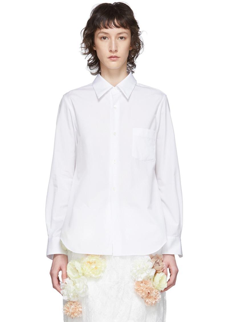 Comme des Garçons White Exaggerated Back Pleat Shirt