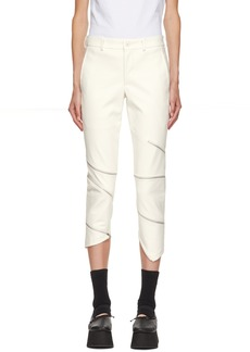 Comme des Garçons White Faux-Leather Skinny Trousers