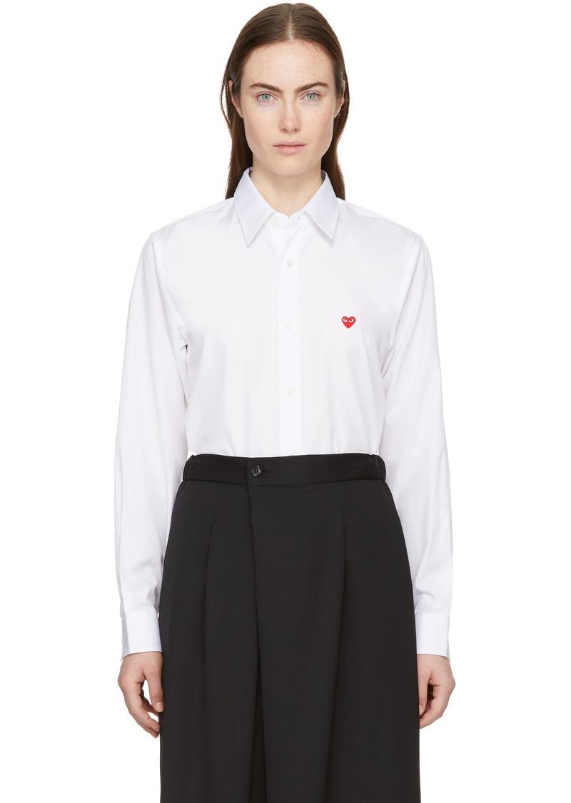 Comme des Garçons White Men's Fit Tiny Heart Patch Shirt